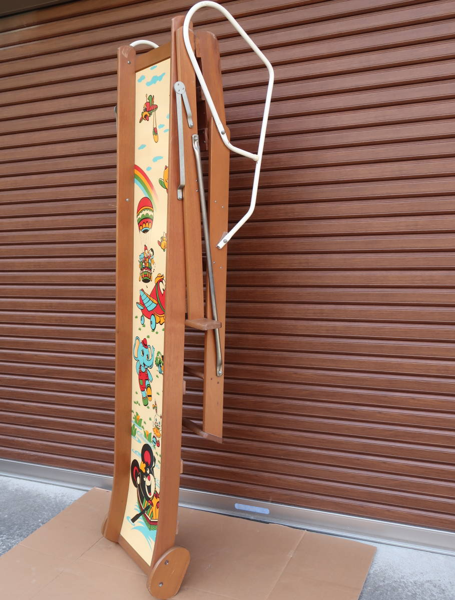 木製 レトロ 滑り台  長期保管中古品_画像10