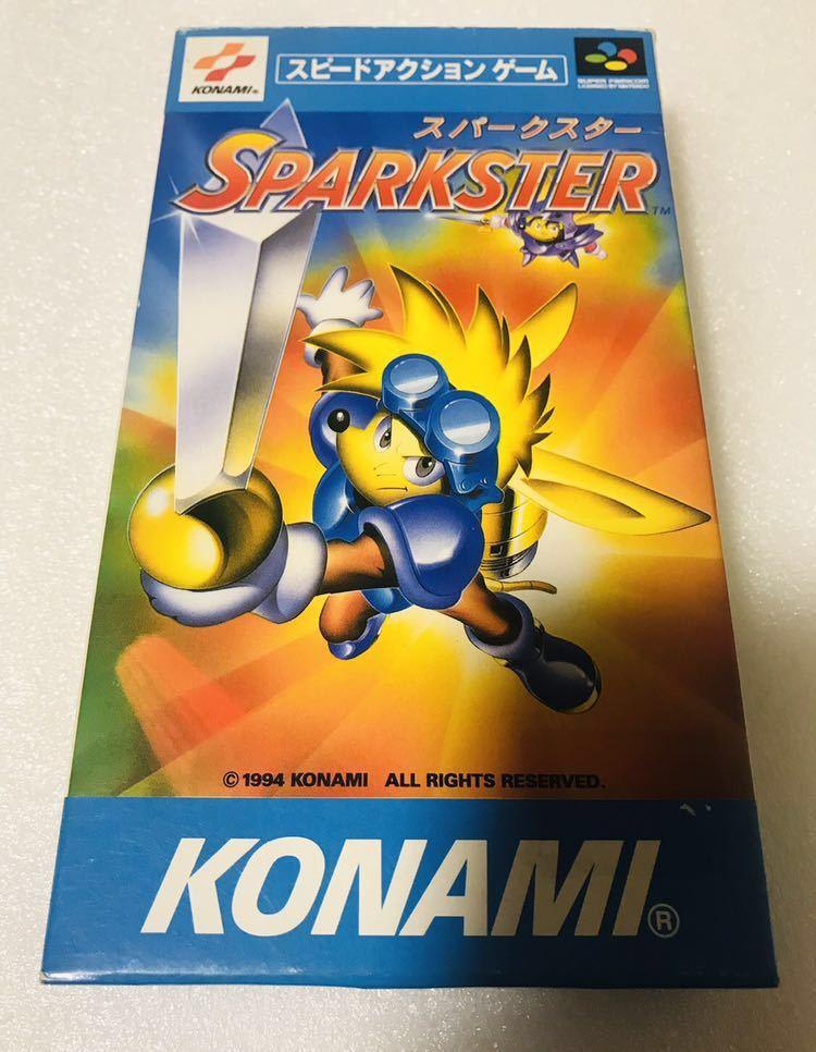 スーパーファミコンソフト スパークスター コナミ 新品未開封品 極良品 1円スタート デッドストック品