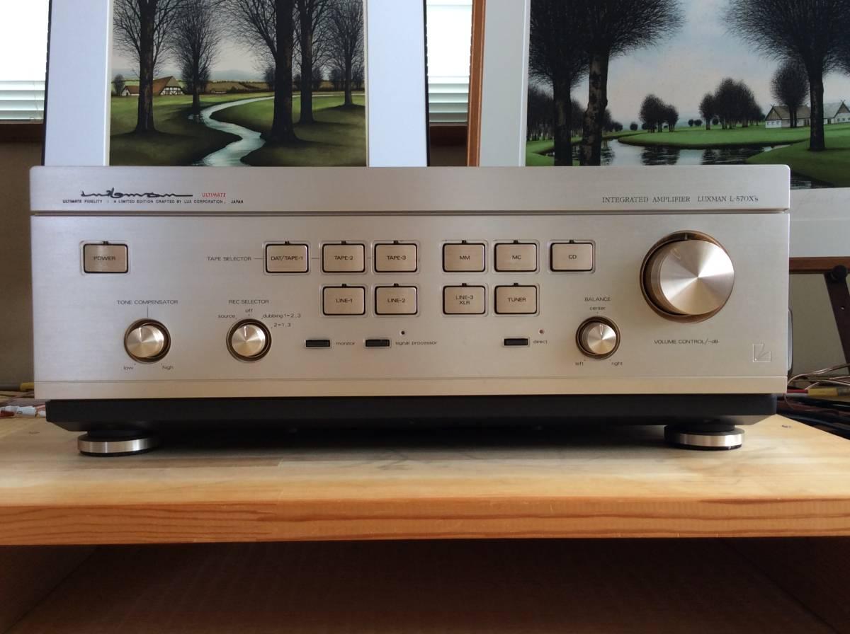 LUXMAN プリメインアンプ L-570X's 素晴らしい音質! 送料込。(一部難あり)