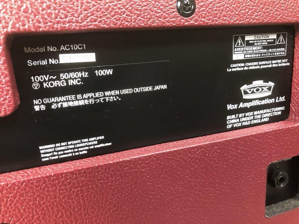 限定カラー VOX AC10C1-MB 真空管 ギターアンプ コンボ 検索) MV50 AC30 AC15_画像6