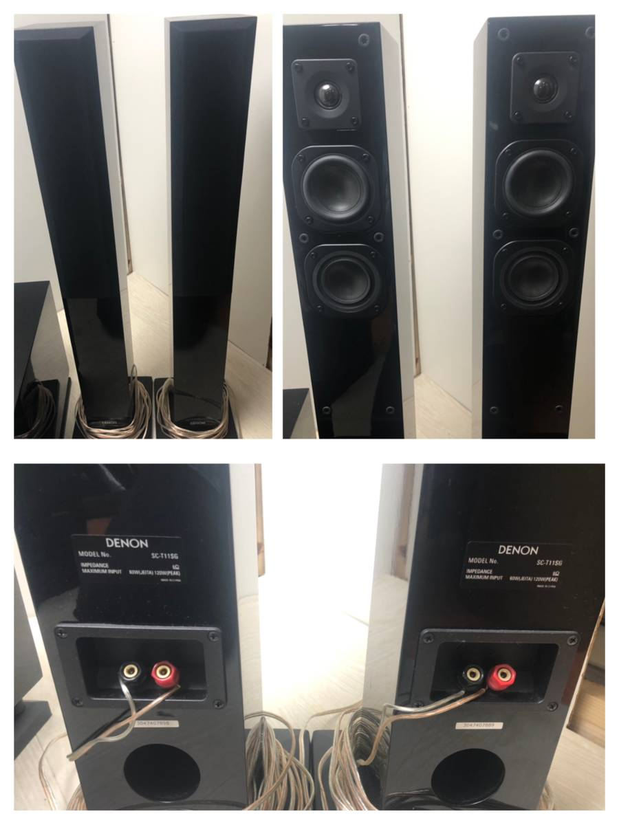 S☆814 DENON サラウンドセット アンプ スピーカー AVR-X1000_画像6