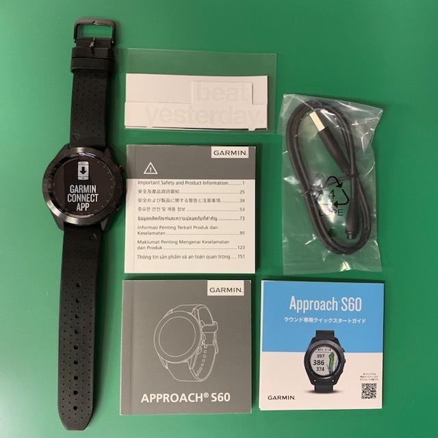 ★新品未使用品★(ガーミン/GARMIN)ゴルフ_GPSナビ【Approach S60 Ceramic】セラミック 腕時計型(日本正規品)_画像5