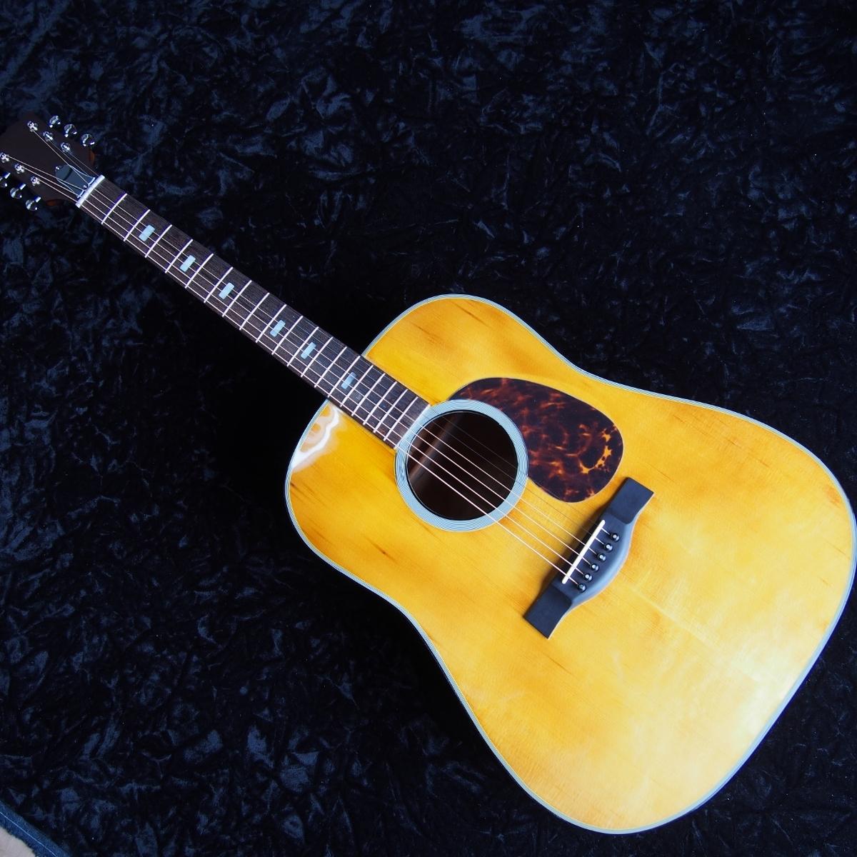 レア 虎杢 全単板 オールラッカー オーバーホール済 ヴィンテージ アコースティックギター _画像6