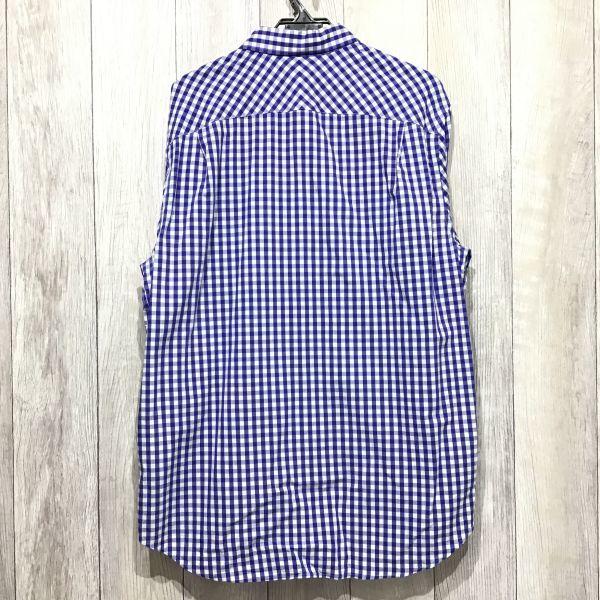 ES12-308 ◆ビッグサイズ・美品◆[GAP ギャップ]チェックシャツ【XL】青,白,カジュアル,デザイン,アメカジ,ブランド_画像3