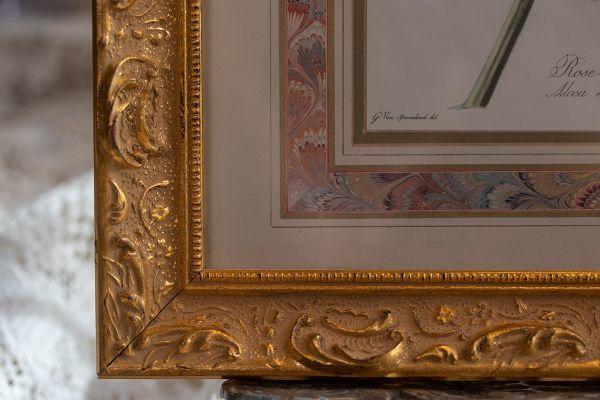 壁掛け額縁 ピンク&レッドローズ Made in USA ウォールフレーム ローズ インテリアディスプレイ什器アンティーク ビンテージ_画像5