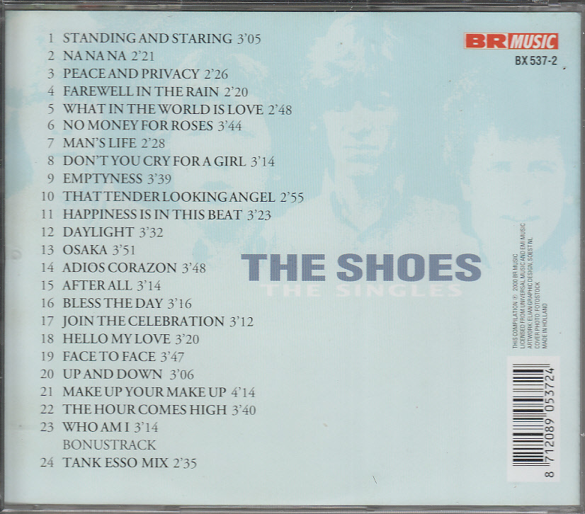 ♪SHOES THE/シューズ(Netherlands)【THE SINGLES】`60s~`70sサイケ風味パワー・ポップ 輸入盤_画像2