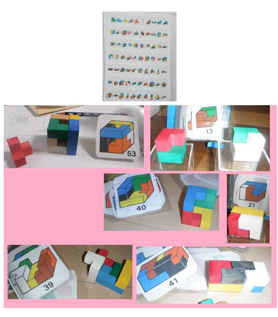(5d)ニキーチン みんなの積み木 解答編 手本セット パターンカード つみき 家庭保育園 モンテッソーリ 中学受験 立体 公文_画像2