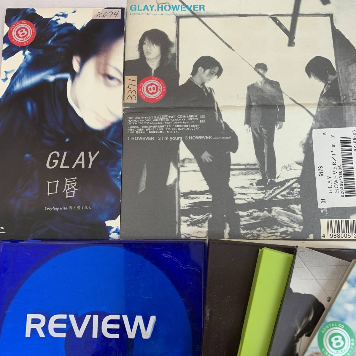 GLAY 口唇、REVIEW、Missing You、Soul Love、誘惑、a Boy、Winter,again、Be with You、However、9枚まとめて_画像2