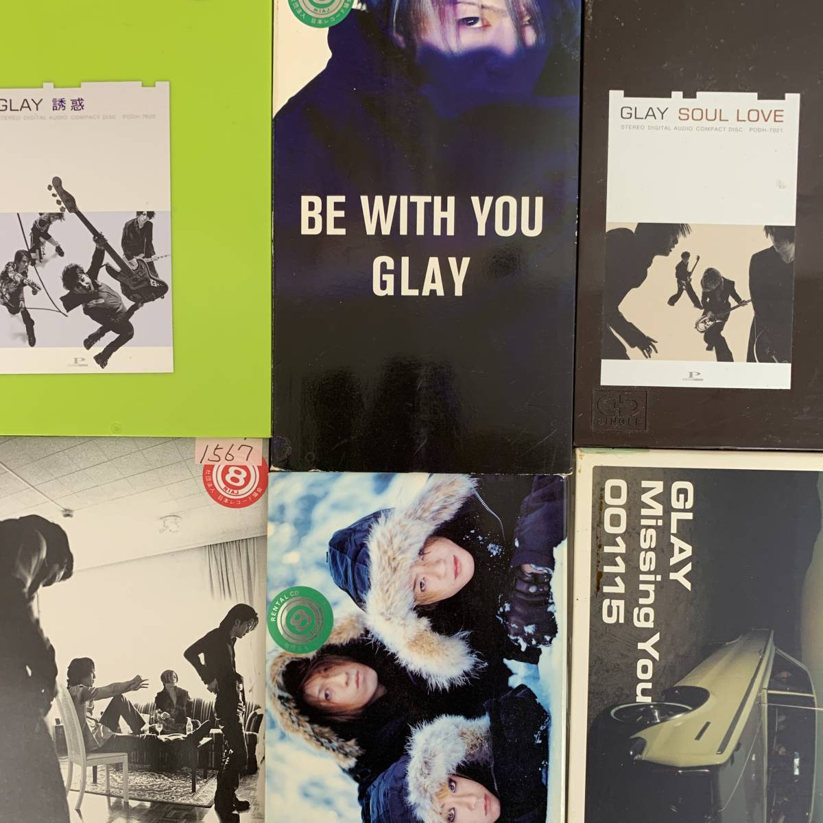 GLAY 口唇、REVIEW、Missing You、Soul Love、誘惑、a Boy、Winter,again、Be with You、However、9枚まとめて_画像5