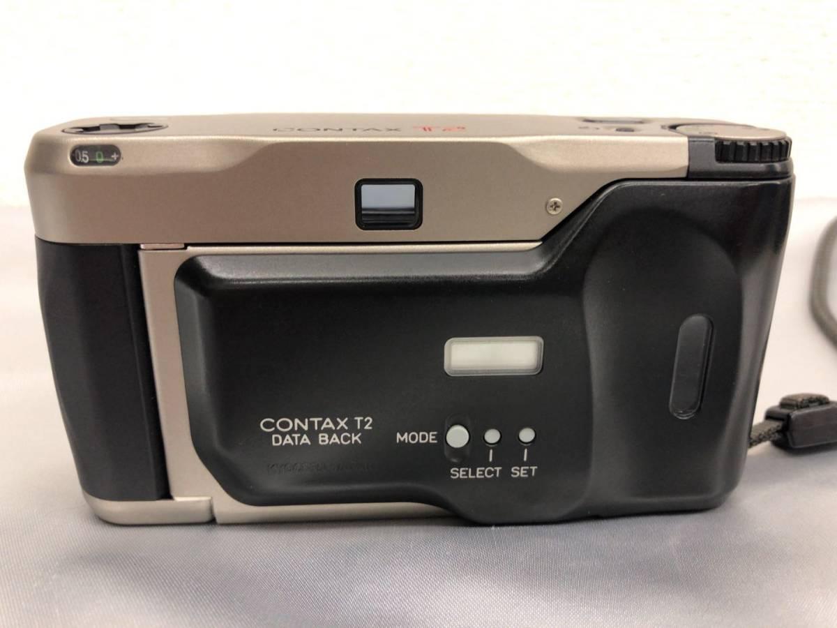コンタックス CONTAX T2 Carl Zeiss Sonnar 38mm F2.8 T* コンパクトフィルムカメラ ストラップ・収納ケース付き【中古・現状品】_画像3