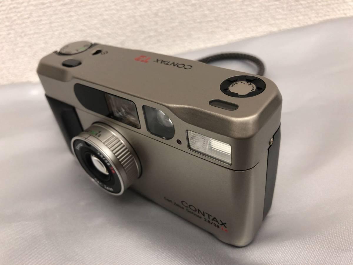 コンタックス CONTAX T2 Carl Zeiss Sonnar 38mm F2.8 T* コンパクトフィルムカメラ ストラップ・収納ケース付き【中古・現状品】_画像7