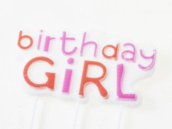 誕生日 パーティー イベントのお祝い キャンドル カラフル蝋燭#Birthday Girl文字 QZA-40982_画像1
