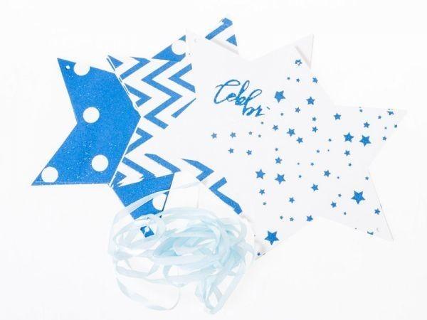 パーティー お祭り イベント デコ フラッグガーランド ガーランド スター#ブルー QZA-42841_画像1