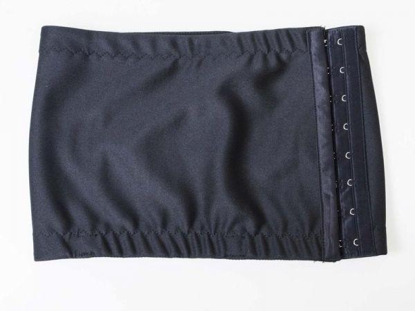 ポリエステル製 3段フック式 胸潰し ナベシャツ 男装コスプレ 仮装小道具 吸湿性/ブラック#XXLサイズ QCP-36542_画像1