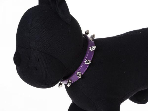 犬用首輪 ペット トゲトゲ スパイク スタッズデザイン Mサイズ#パープル QZA-35503_画像1