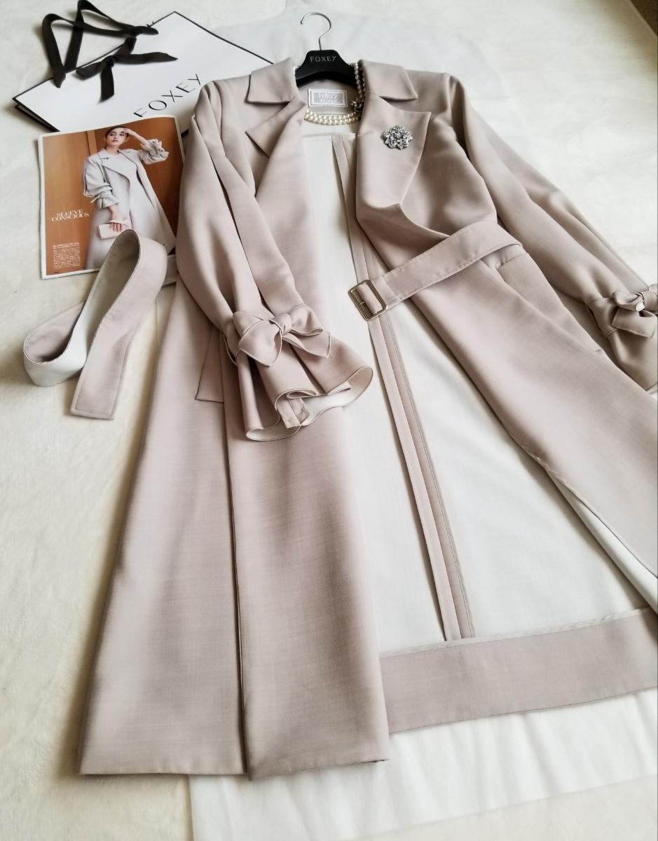FOXEY 42【Coat Sleeve Conscious】2018年DM掲載25ansブレンダさん着 軽く羽織るだけで絵になる袖コンシャスな春のコート ワンピースに_画像5