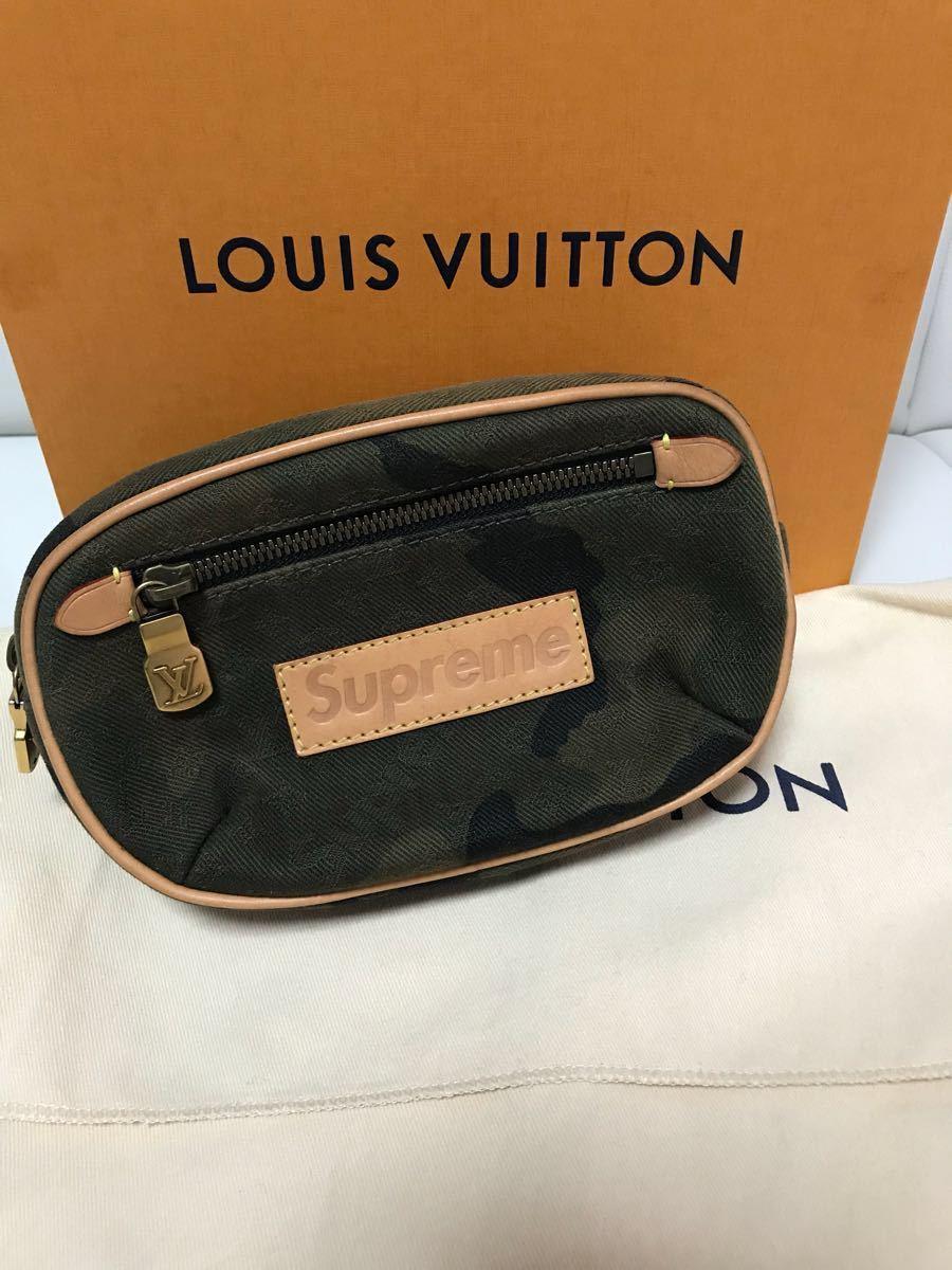 本日限定専用ページ Louis Vuitton×supreme 迷彩柄 カモ柄 ショルダーバッグ バムバッグ ボディーバッグ(限定 コラボ 財布)