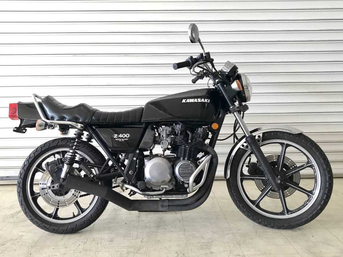 KAWASAKI Z400FX 貴重な初期型国内E1モデル 実働旧車/程度良好/エンジン載せ替え無し