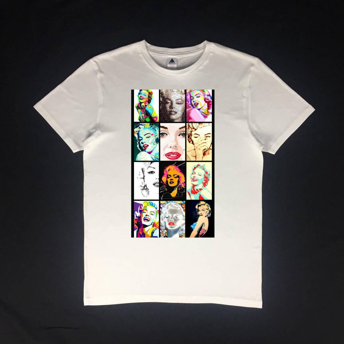 未使用 アウトドア マリリンモンローTシャツ S M L XL ビッグサイズ XXL 3XL 4XL 5XL 黒色 対応 OK_画像2