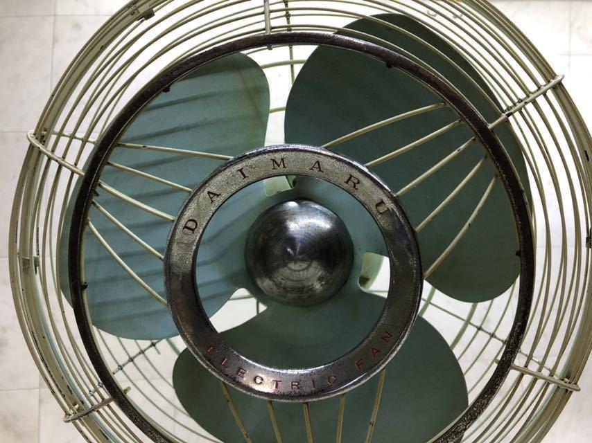 昭和レトロ 美品 DAIMARU 大丸謹製 SILVER ヴィンテージ 扇風機 12インチ 3枚羽 _画像2