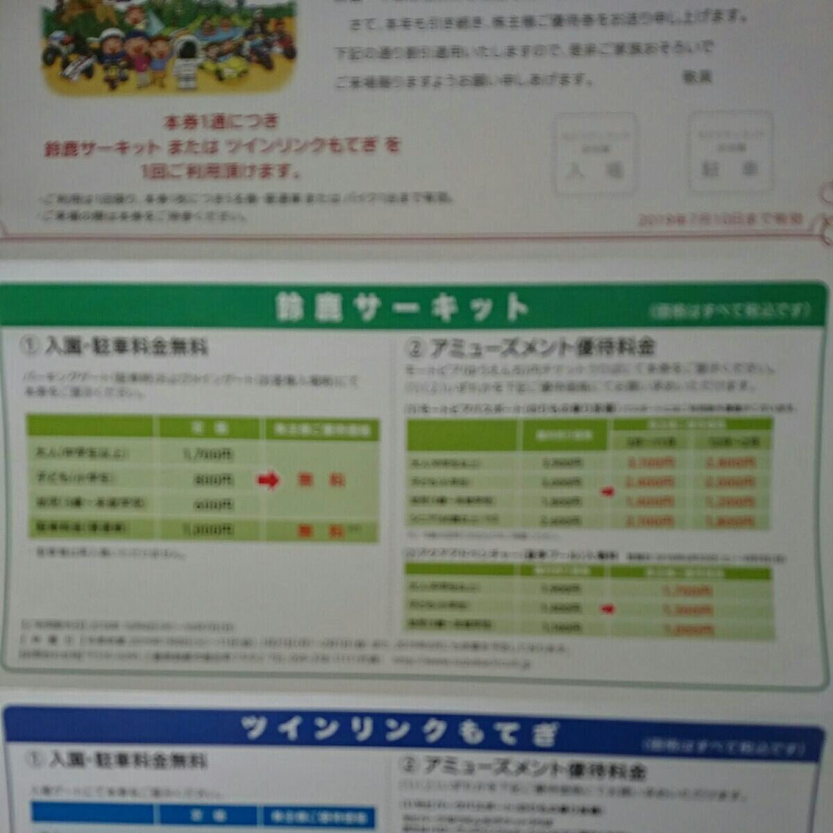 送料無料【鈴鹿サーキット/ツインリンクもてぎ】入園料金5名まで+駐車場無料_画像3