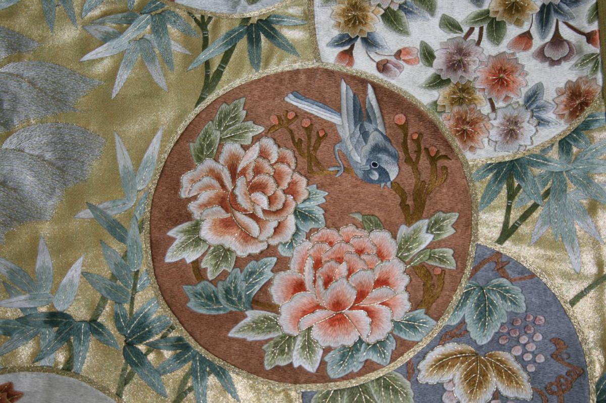 ◆弊社工房オリジナル袋帯◆手刺繍◆訪問着、留袖、色留、色無地用◆_画像3
