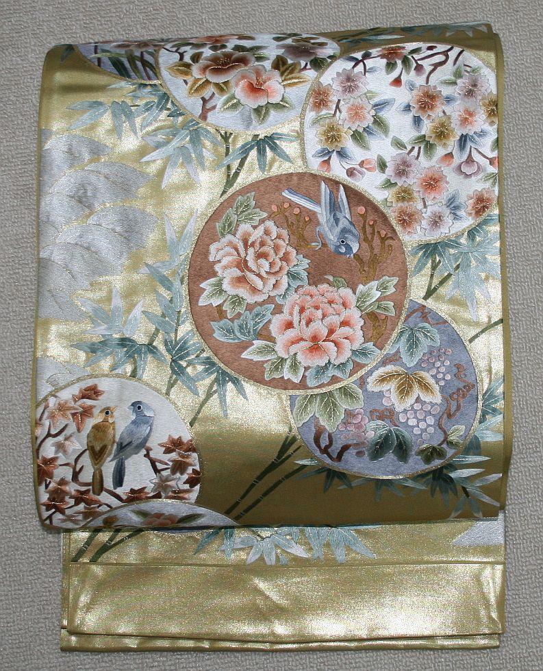 ◆弊社工房オリジナル袋帯◆手刺繍◆訪問着、留袖、色留、色無地用◆_画像1