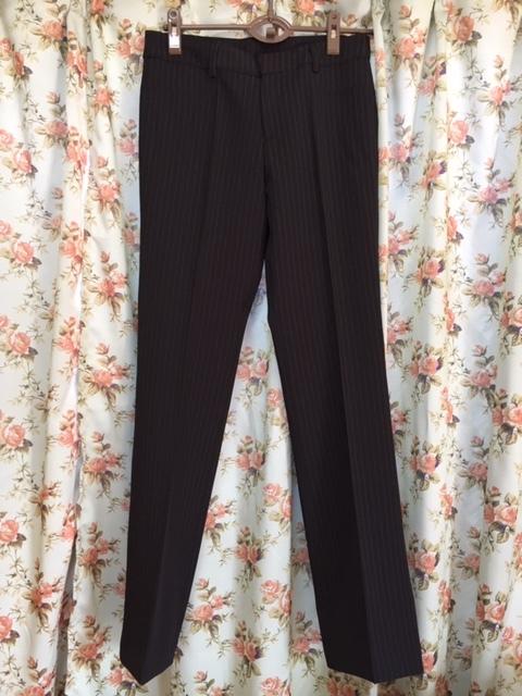 7933 パンツスカート3点セット 七分袖スーツ 11号 オフィス ビジネススーツ セレモニー アウトレット商品 新品(BK/S)_画像4