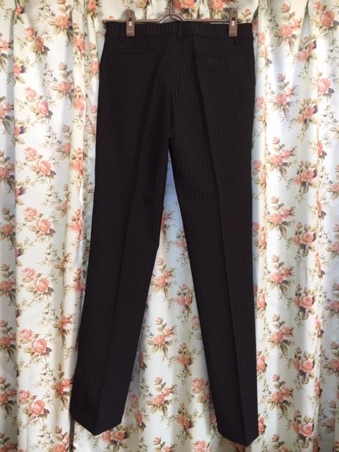 7933 パンツスカート3点セット 七分袖スーツ 11号 オフィス ビジネススーツ セレモニー アウトレット商品 新品(BK/S)_画像5