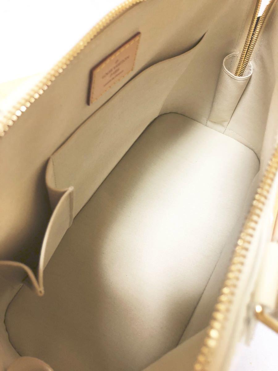極上美品 ルイヴィトン LOUIS VUITTON モノグラム ヴェルニ アルマ バッグ 箱 パドロック 鍵×2 クロシェット 等 付属_画像6