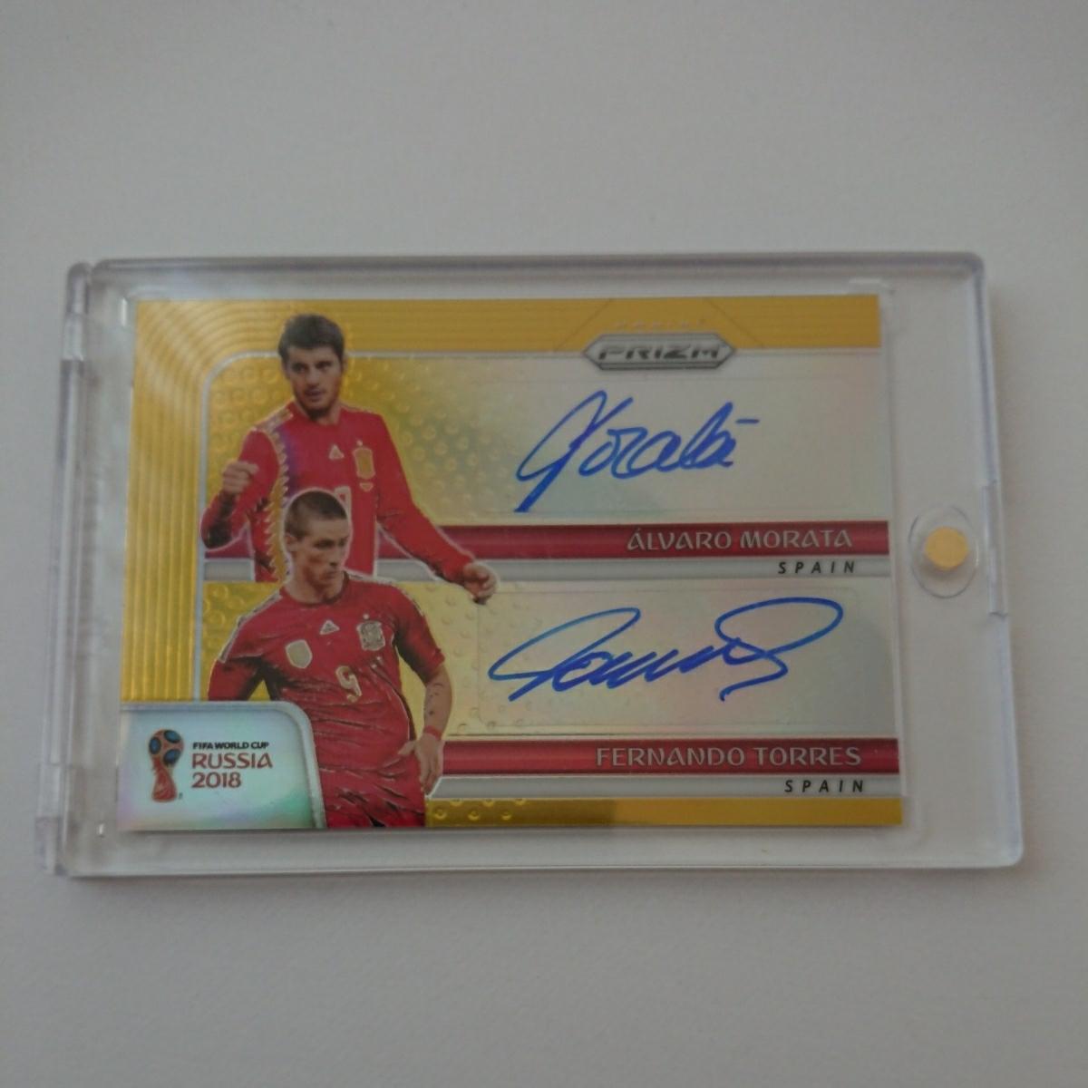 2018 Panini Prizm World Cup Russia Soccer Dual Signatures Autograph Alvaro Morata F