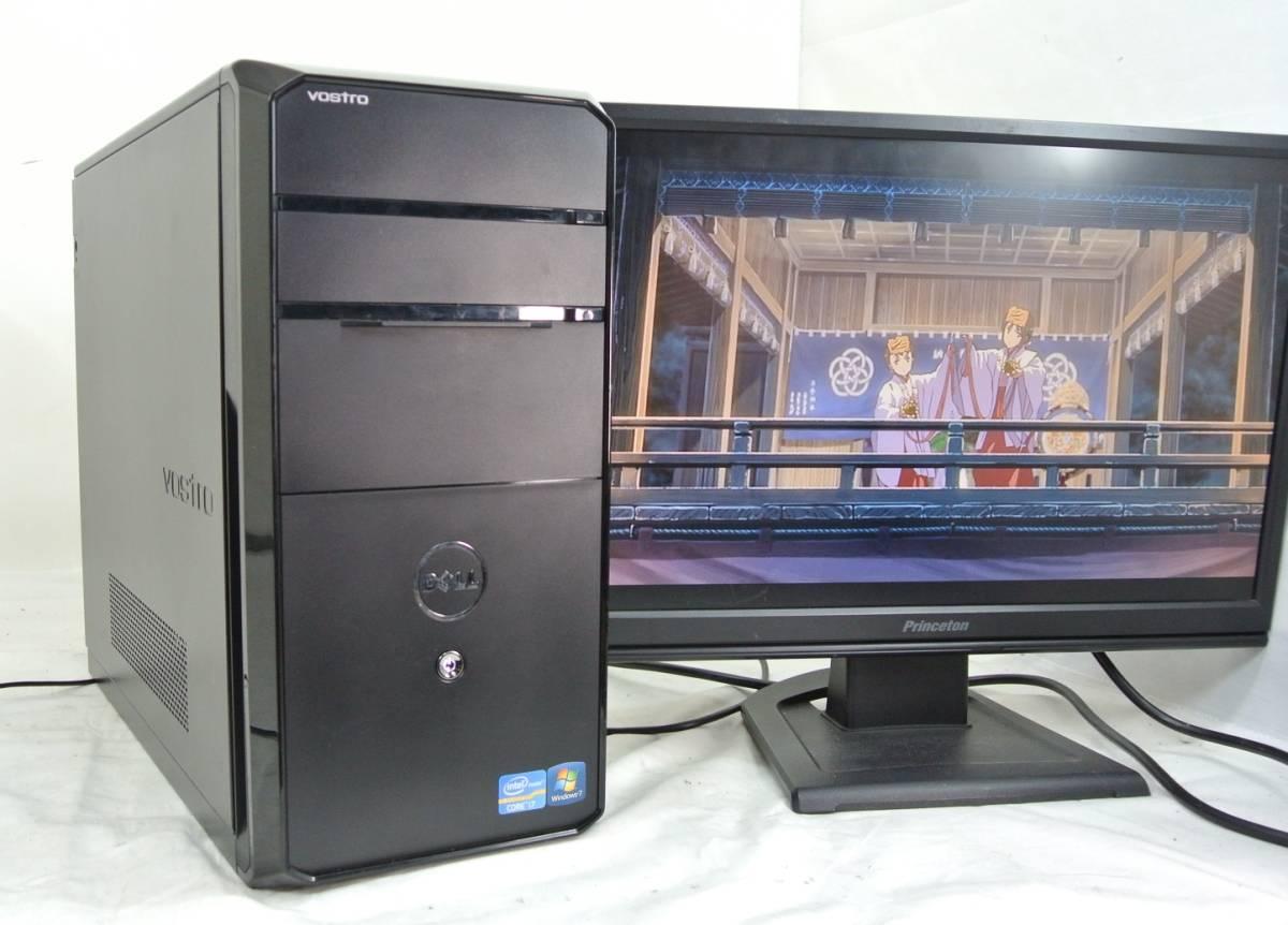 快適SSD!美品 DELL Vostro 460/i7-2600/8G/新SSD120G+500GB/Win10/office2016/快適事務作業に 即使用可