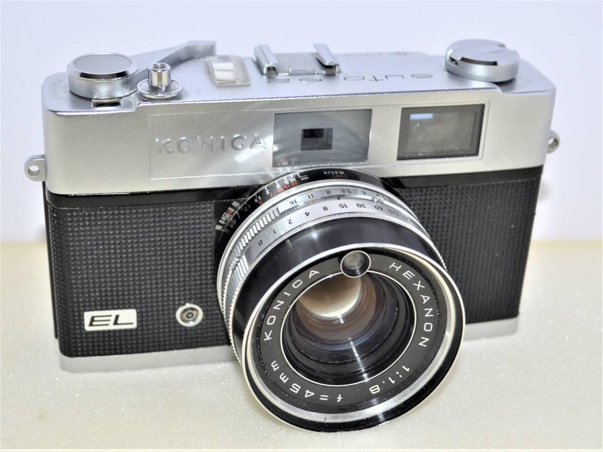 ★希少完動美品★ Konica コニカ AUTO S2 EL ( HEXANON 45mm F1.8 ) レンジファインダー K306