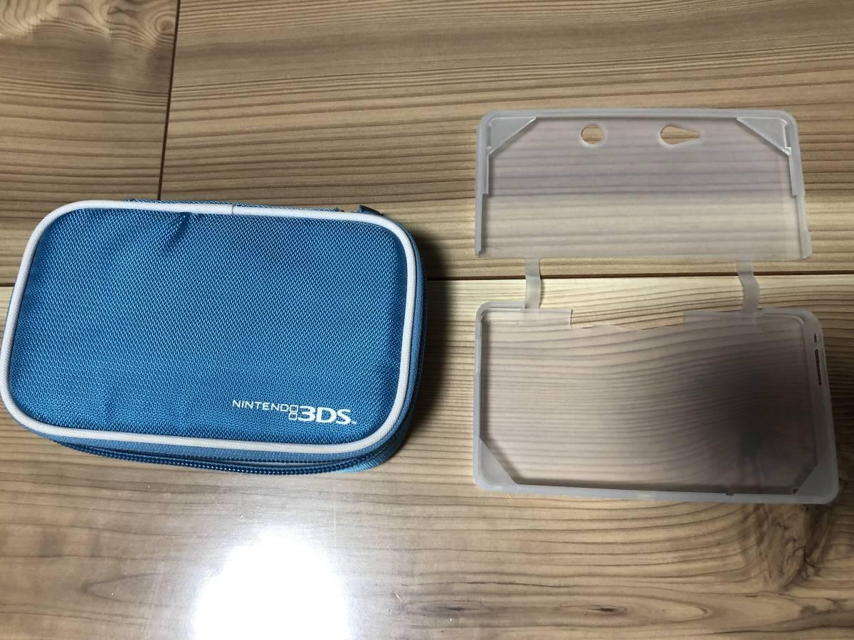 ニンテンドー3DS本体(アクアブルー)+ソフト2本付(マリオカート7・TOEIC TEST) _画像3