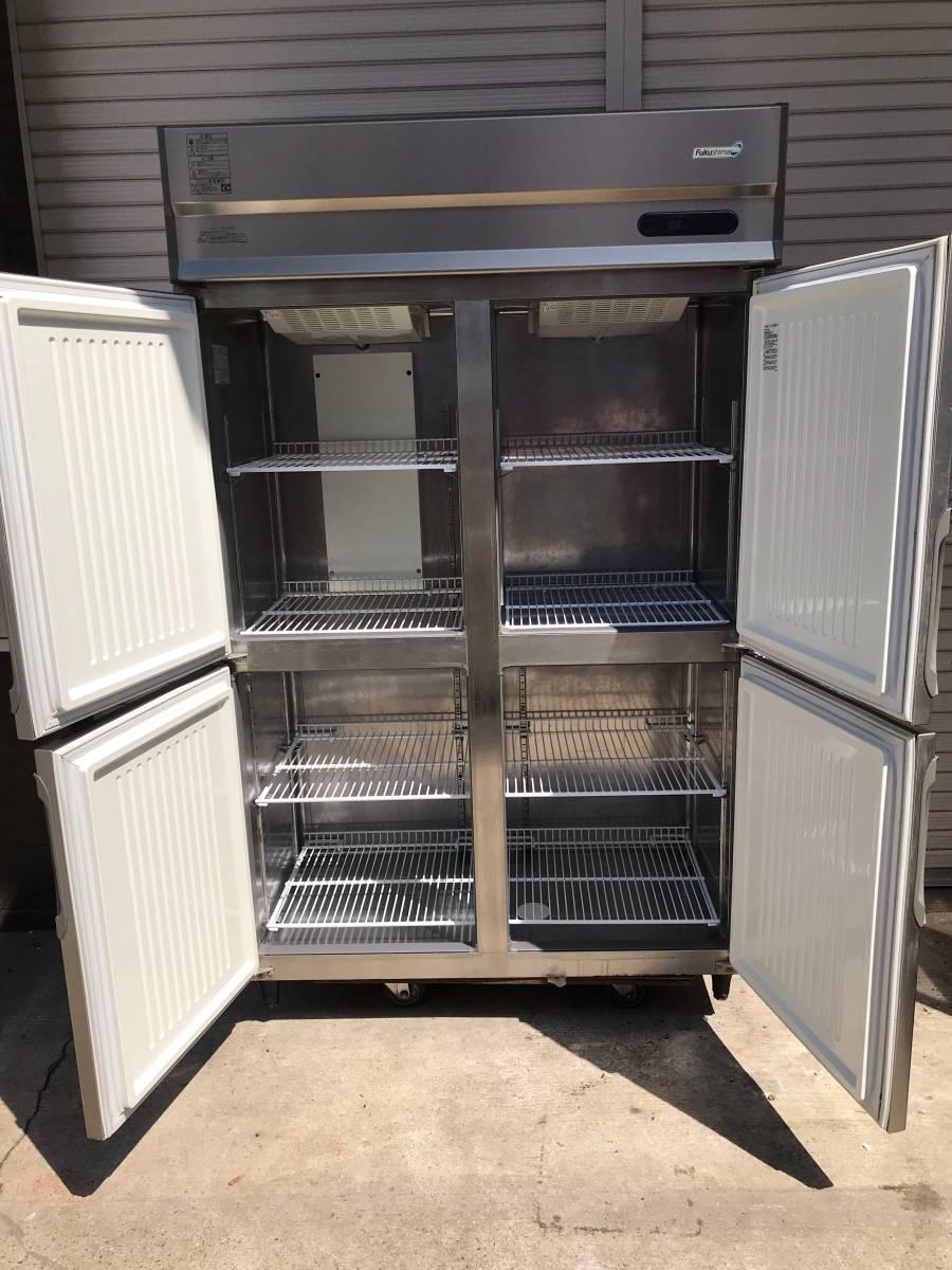 Fukushima/福島工業 業務用 4面冷凍冷蔵庫 冷凍庫186L冷蔵庫609L 店舗 厨房 URN121PM6 直接引き取り品_画像4