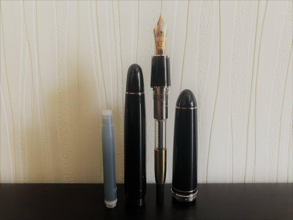 85 未使用 プラチナム PLATINUM PRESIDENT プレジデント 18k インク ケース付き ◆M-13_画像6