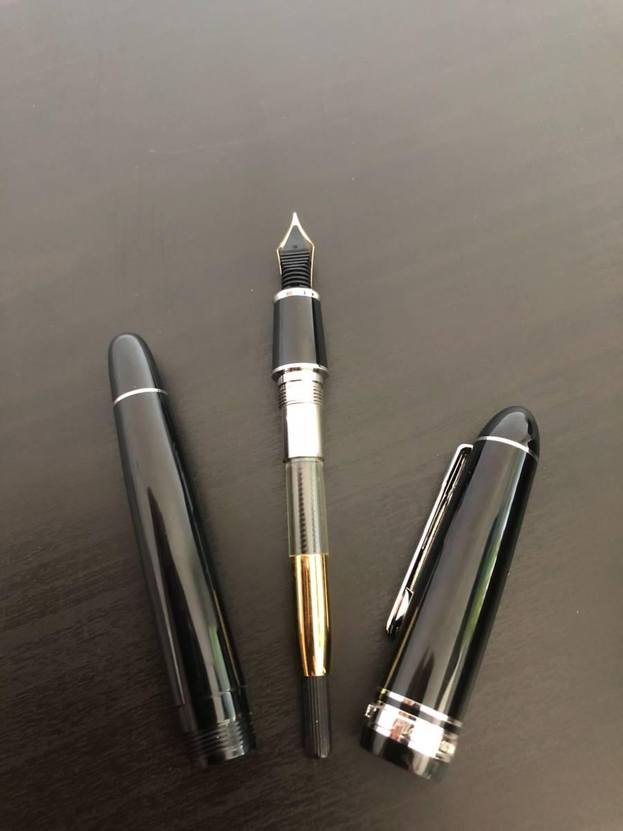 85 未使用 プラチナム PLATINUM PRESIDENT プレジデント 18k インク ケース付き ◆M-13_画像5
