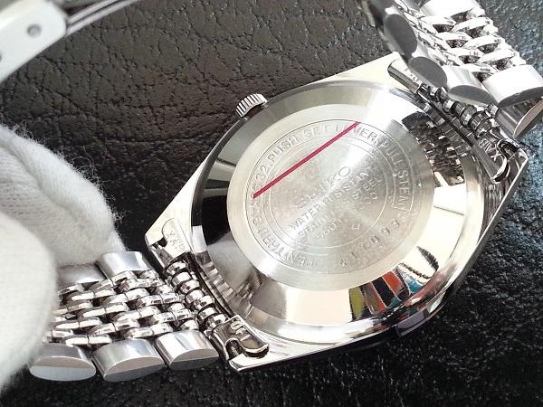 大野時計店 セイコー ロードマチック 5601-9000 自動巻 1974年1月製造 アラビア数字 絹目文字盤 希少_画像4
