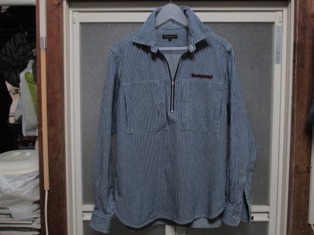 WORLD WIDE LOVE ヒッコリー ストライプ プルオーバー デニムシャツジャケット ジップアップ 刺繍 オールドヴィンテージモデル 40'S 50'S_画像1