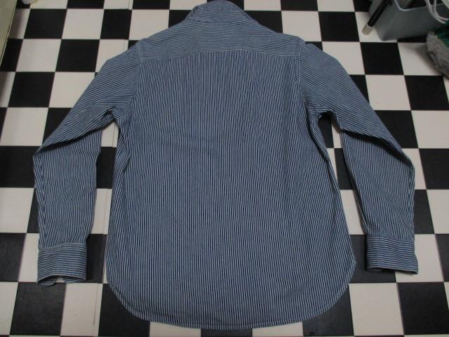 WORLD WIDE LOVE ヒッコリー ストライプ プルオーバー デニムシャツジャケット ジップアップ 刺繍 オールドヴィンテージモデル 40'S 50'S_画像7