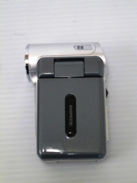 【美品!】 ★ EXEMODE / エグゼモード ★ デジタルムービーカメラ DV535 シルバー 箱・付属品あり_画像3