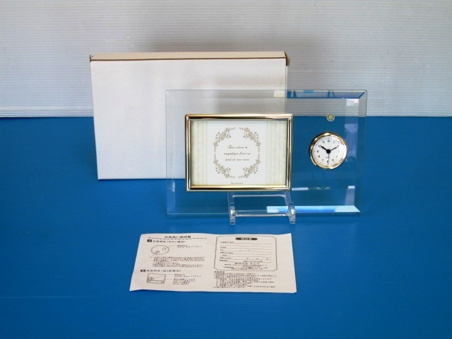 【美品】 ★ KISHIMA / キシマ ★ ガラス インテリアフレーム KHG-9677 時計&フレーム 箱あり