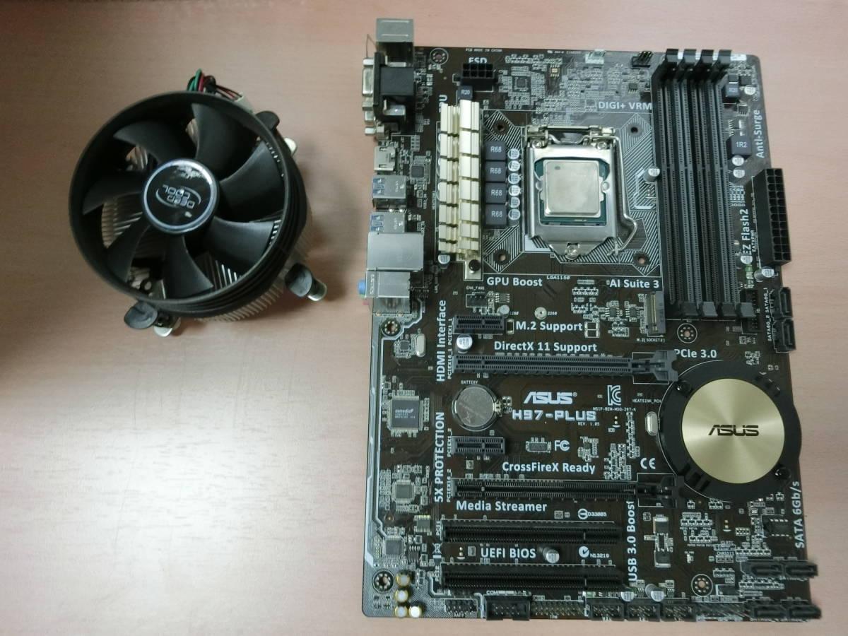core i7-4790 3.60GHz SR1QF と ASUS H97-PLUS の出品です。