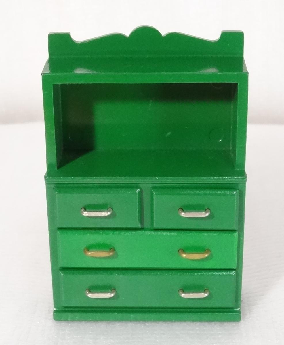 ◆ 緑の家具 食器棚 シルバニア ファミリー エポック社 ◆