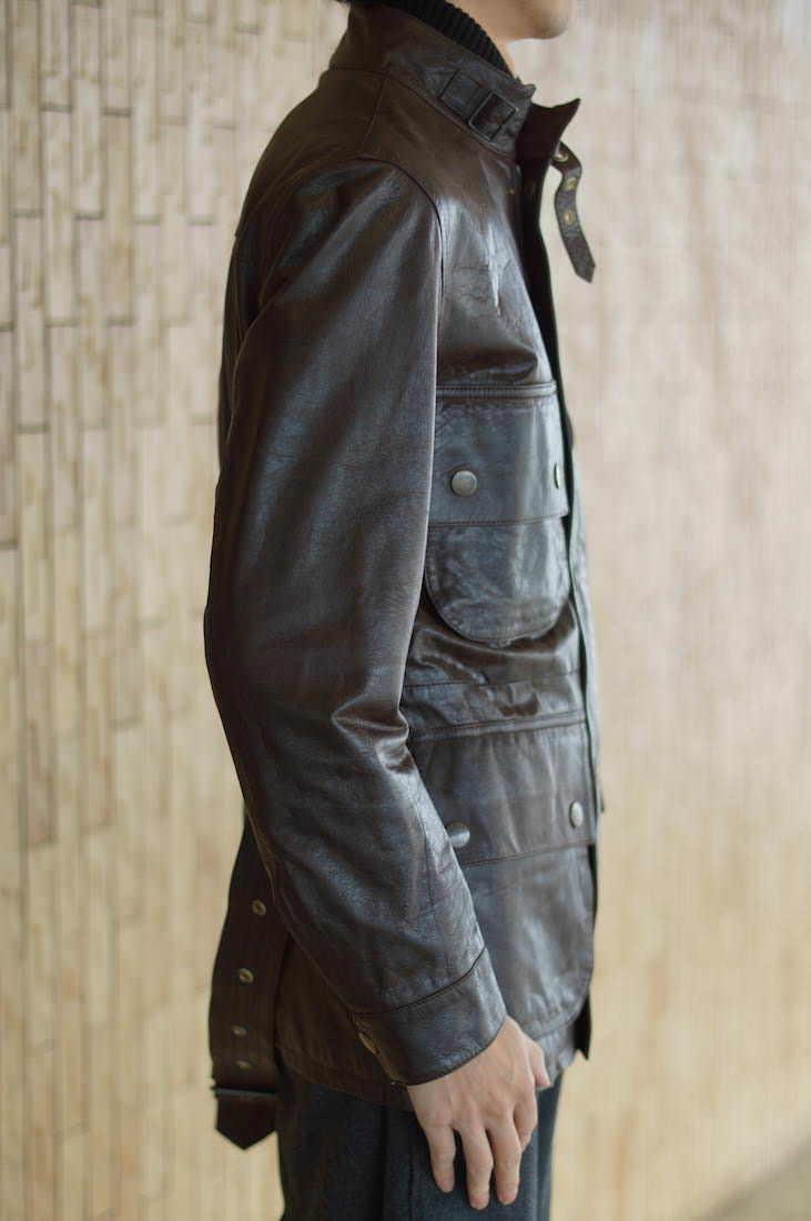 PS/Paul Smith ポールスミス /ラムレザー モーターサイクルジャケット 本革 バイカー ライダース 羊革 定価99750円_画像2