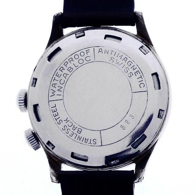 値下げ交渉あり!ヴィンテージ1960年代製ELVIAエルヴィア手巻きアラームウォッチ美品ヴィーナスCal.230搭載1年保証付_画像7
