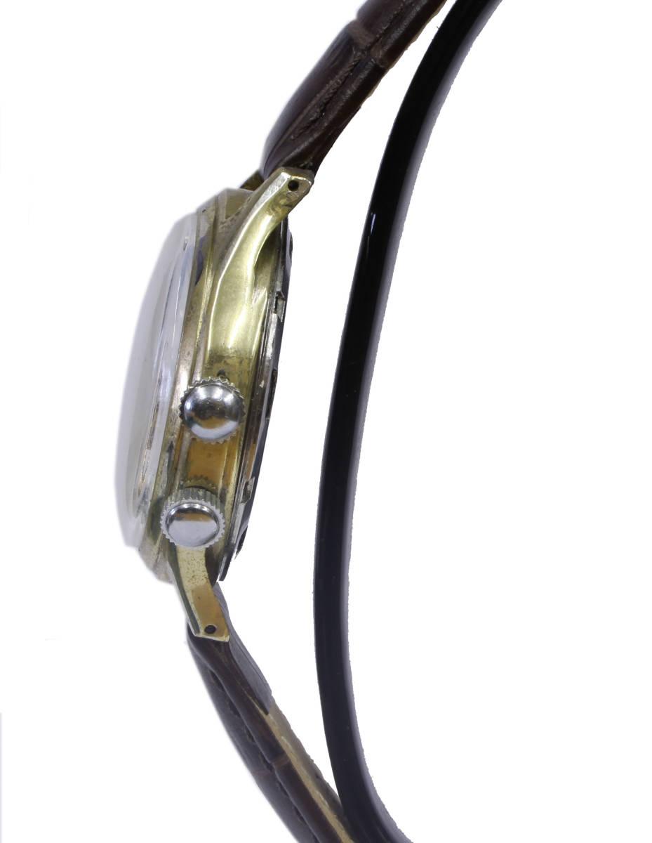 値下げ交渉あり!ヴィンテージ1960年代製ELVIAエルヴィア手巻きアラームウォッチ美品ヴィーナスCal.230搭載1年保証付_画像4