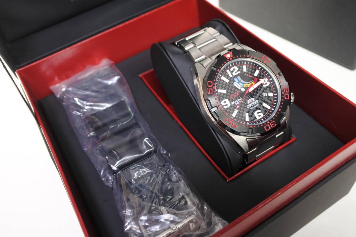 世界限定2,000本日本限定300本 オリエント M-FORCE × STI 24時間耐久レース優勝記念限定モデル 自動巻紳士腕時計 数回使用品 美品_画像2