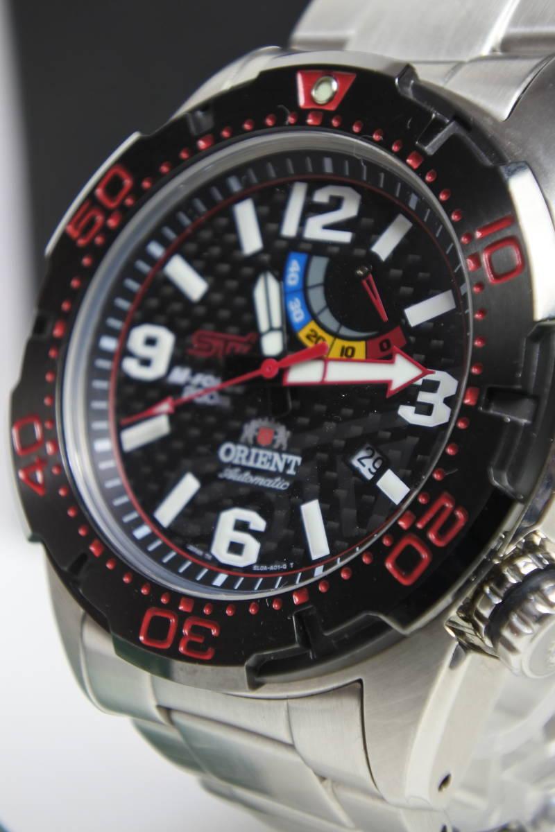 世界限定2,000本日本限定300本 オリエント M-FORCE × STI 24時間耐久レース優勝記念限定モデル 自動巻紳士腕時計 数回使用品 美品_画像8
