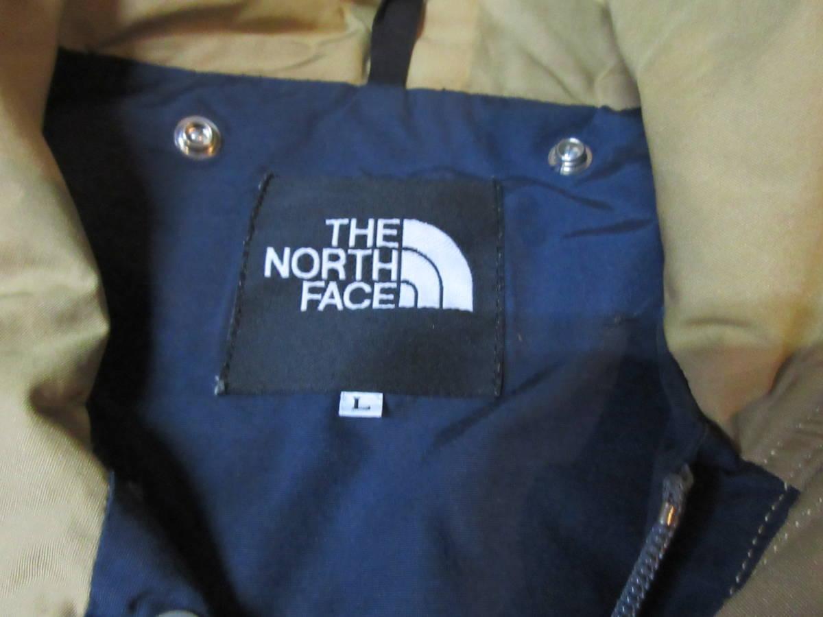 90s 日本製 NORTH FACE マウンテンジャケット L ベージュ アルパインジャケット アウトドア ビンテージ マウンテンライト ナイロン_画像3